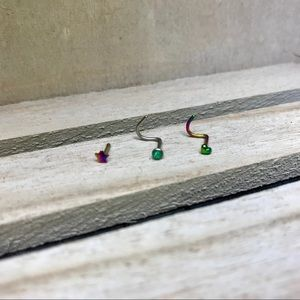 Jewelry - Nose rings set of three brand new nose piercing